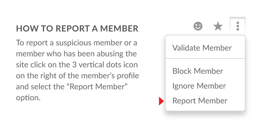How to report a member