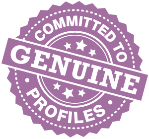 Committed to Genuine Profiles stamp