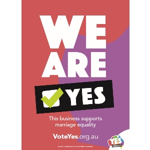 We support Australian marriage equality
